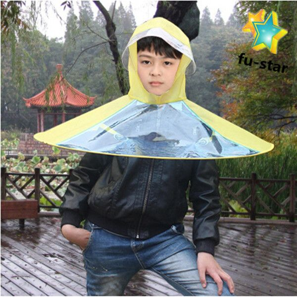Pn Waterproof Poe Students Fashion Clear Logo Printing School Supply Plastic Folding Clear Plastic Rain Hats P Raincoats For Women Raincoat Kids Kids Umbrellas