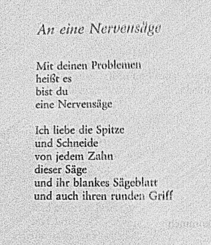 An Eine Nervensäge Erich Fried Poems And Scribbles