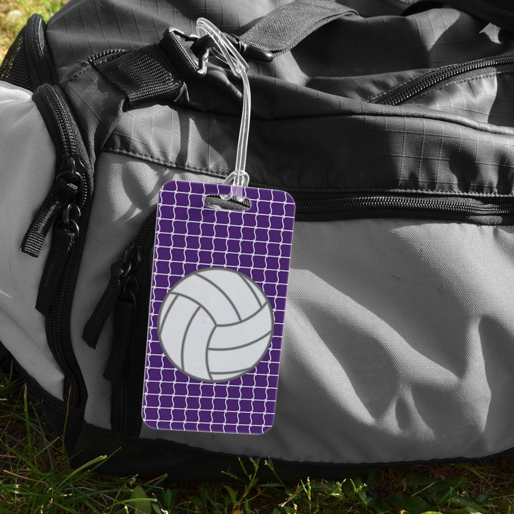 Volleyball Bag Luggage Tag Volleyball With Net Pattern Volleyball Bag