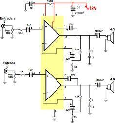 dibujo de conexiones del lm1875 carlos en 2018 t tda7294 amplifier circuit