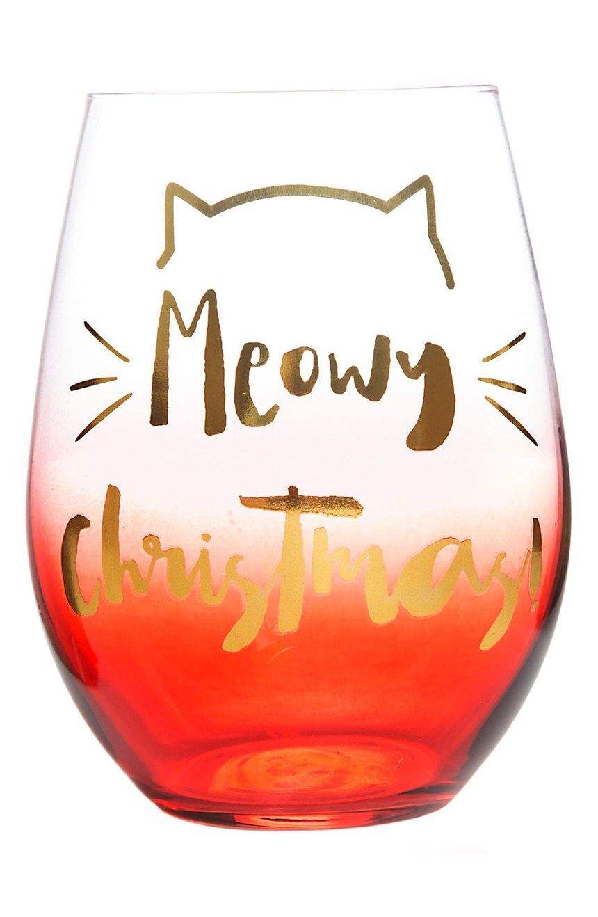 Slant Collections Meowy Christmas Stemless Wine Glass Nordstrom Christmas Wine Meowy Christmas Stemless Wine Glass