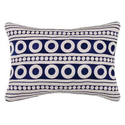 D.L. Rhein Athens Linen Throw Pillow Color: Indigo