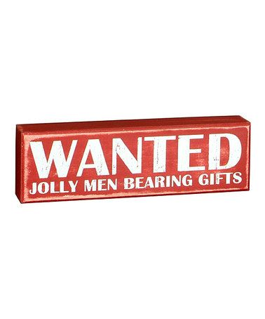 Another great find on #zulily! Red 'Wanted' Sign #zulilyfinds