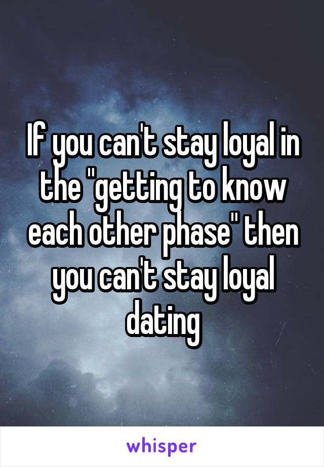 How to stay loyal to online dating