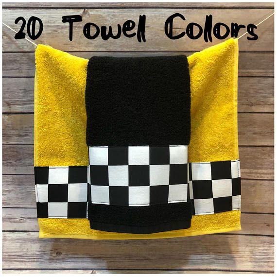 Bath Towels Black And White Check In 5 Sizes 20 Colors Of Towel To