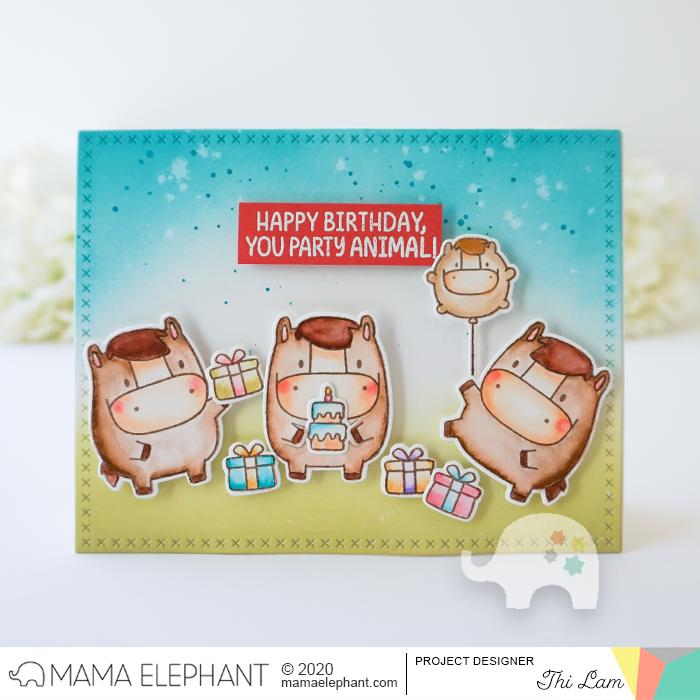 mama elephant design blog Stamp Highlight Zodiac Horse