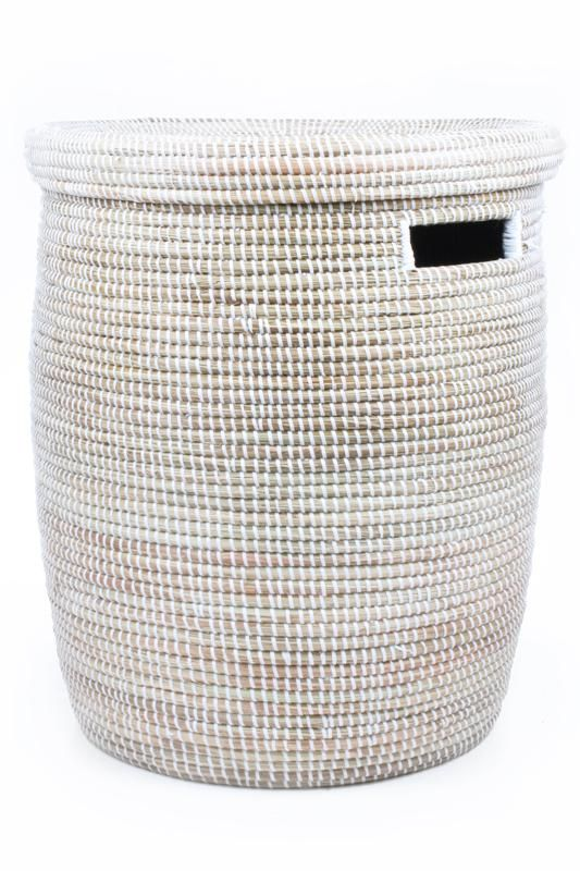 Solid White Hamper Basket
