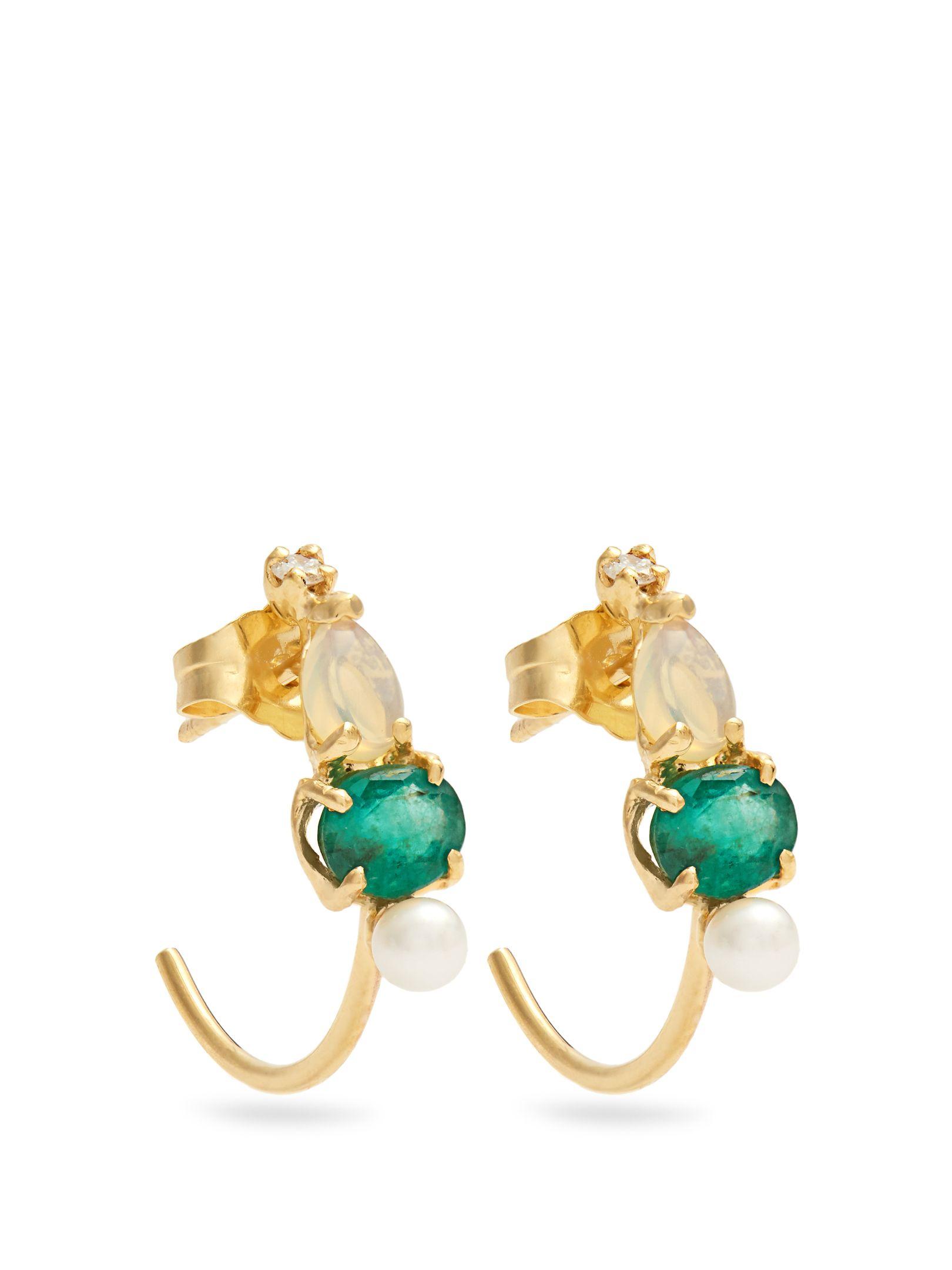 Loren Stewart Emerald & yellow-gold single earring UWfML