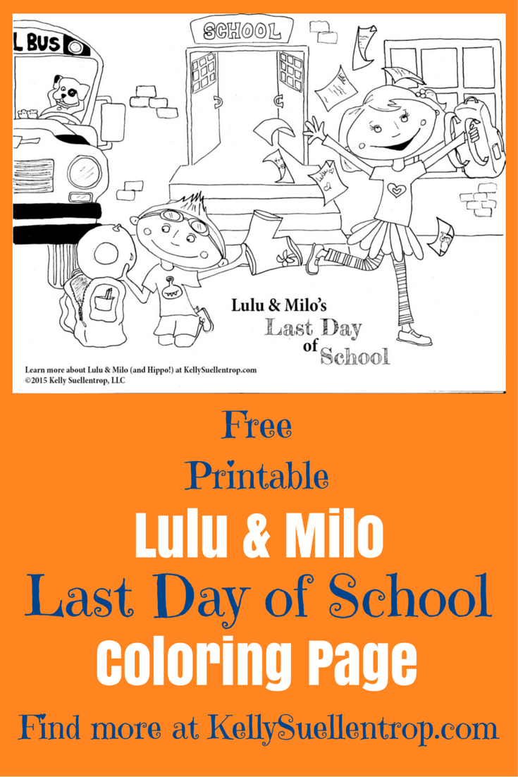 free printable last day of school coloring page featuring