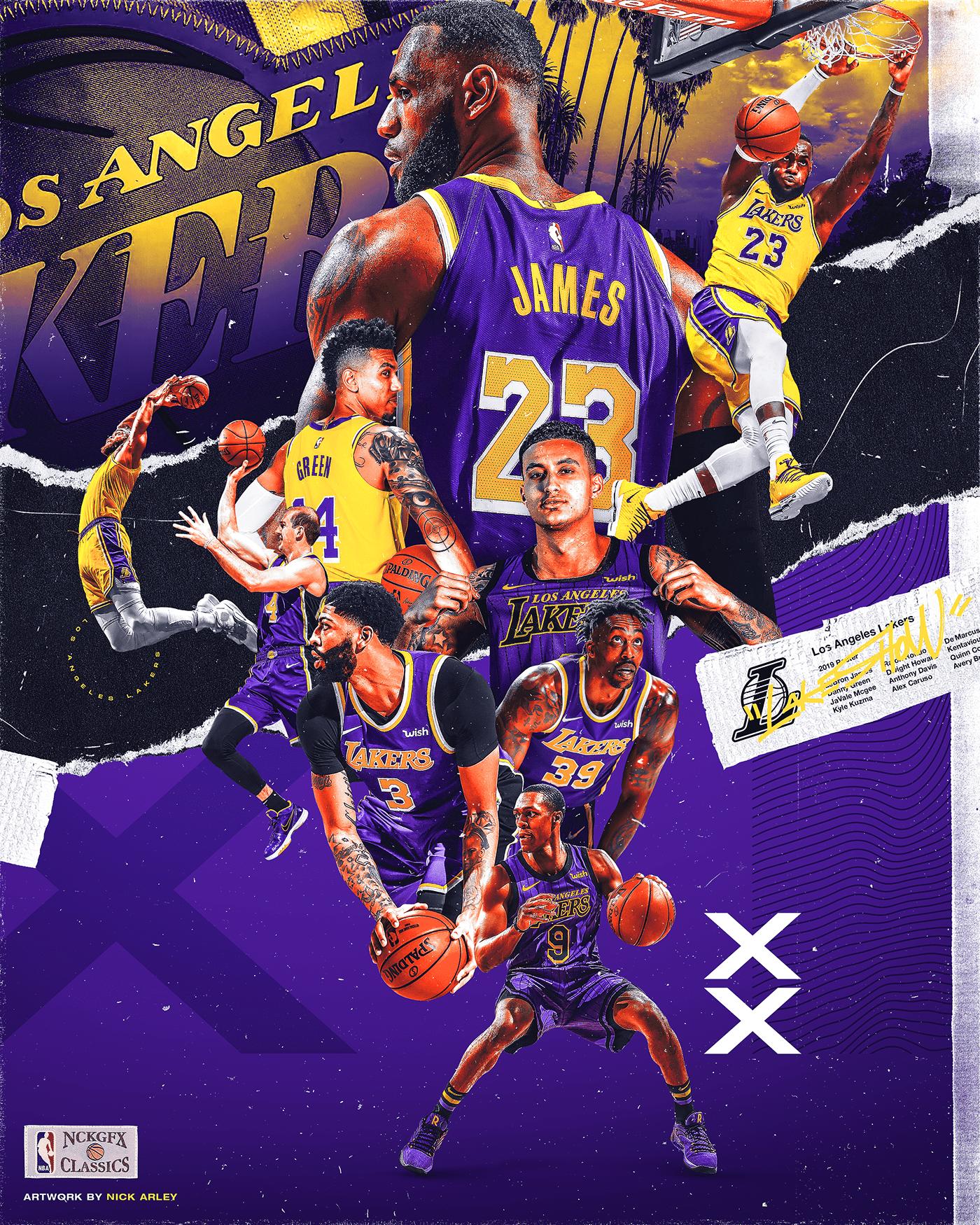 Nick Arley On Behance In 2020 Lakers Wallpaper Lakers Team Lebron James Wallpapers