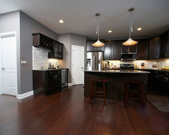 31 The Insider Secret On Chocolate Cabinets Kitchen Paint Colors Dark Wood Revealed Apikhome Com Grey Kitchen Walls Kitchen Paint Grey Kitchen Cabinets