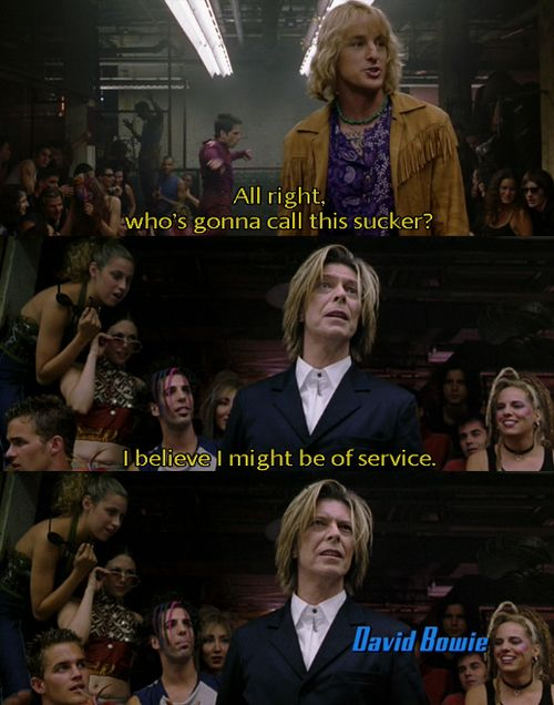 David Bowie The Only Reason I Bought Zoolander Zoolander Quotes David Bowie Zoolander