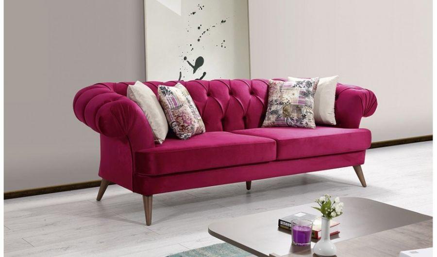 Chesterfield Sofa Polstergarnitur in 4 Farben Anemon 3+3+1 Pinterest - wohnzimmer creme grun