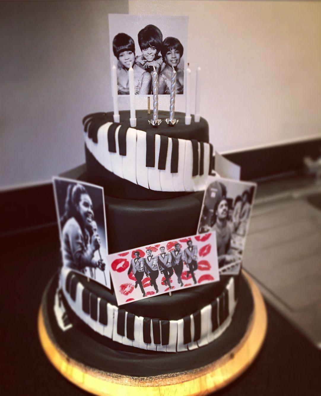 Motown Themed Birthday Cake