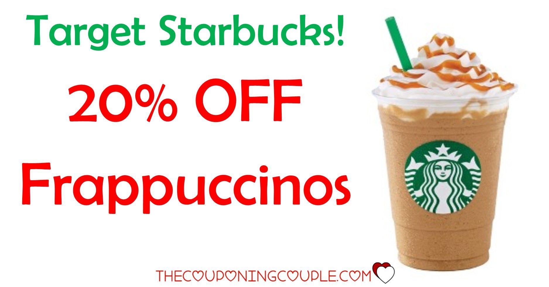 Hot deal 20 off starbucks frappuccino beverages target
