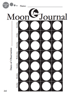 Here's a page for students to keep a journal on the phases