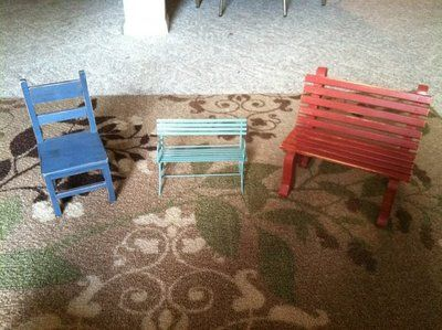 Mini Benches and Chair *reduced*
