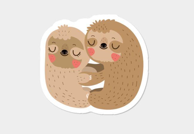 Sloth love sticker design by humans
