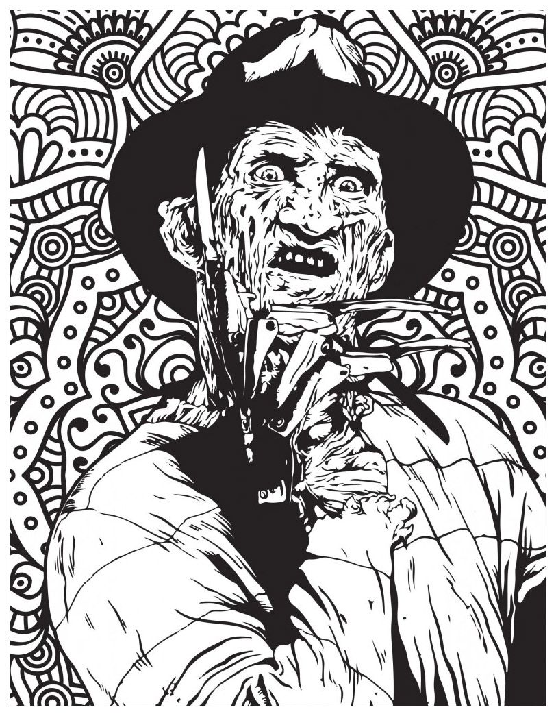 Classic Horror Movies Coloring Pages Freddy Kruegger Source Costume Supercenter Find F Scary Coloring Pages Halloween Coloring Pages Skull Coloring Pages