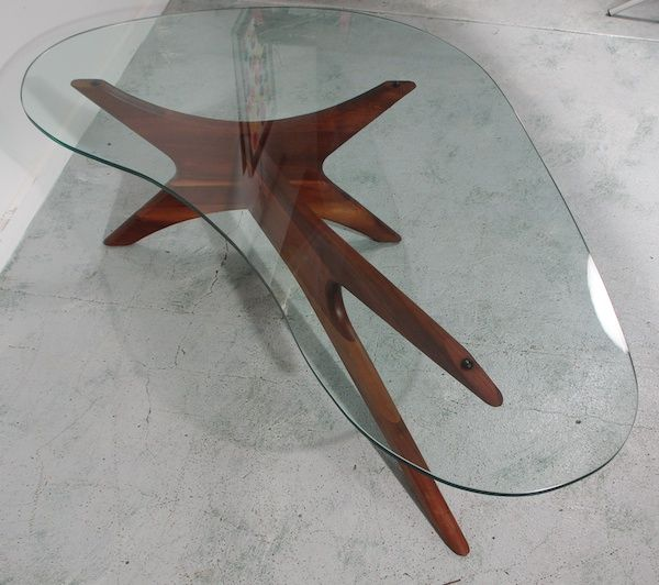 Amazing Mid Century Glass Coffee Table