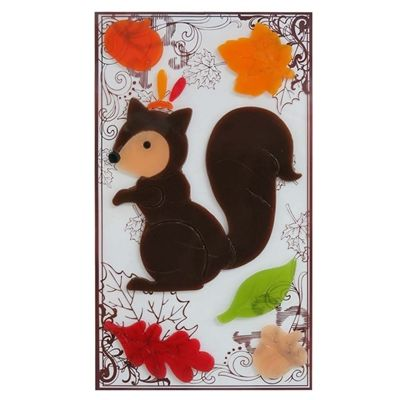 Holiday Living Squirrel Gel Window Cling *Lowe\u0027s Canada - halloween window clings
