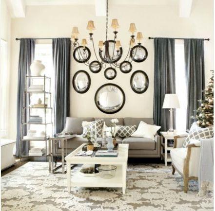 Cream / Gray Formal Living Room (Ballard Design) Part 87