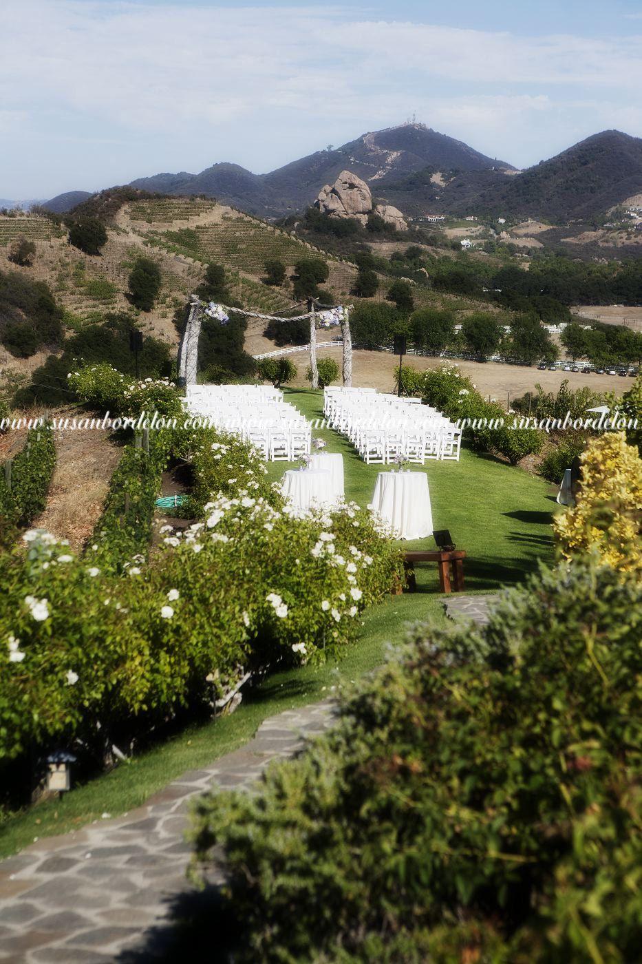 Saddlerock Ranch Wedding.Chateau Le Dome Saddlerock Ranch Vineyard Wedding Ceremony Site