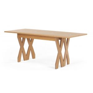 Double Cross Extending Console To Dining Table, Oak   Made.com