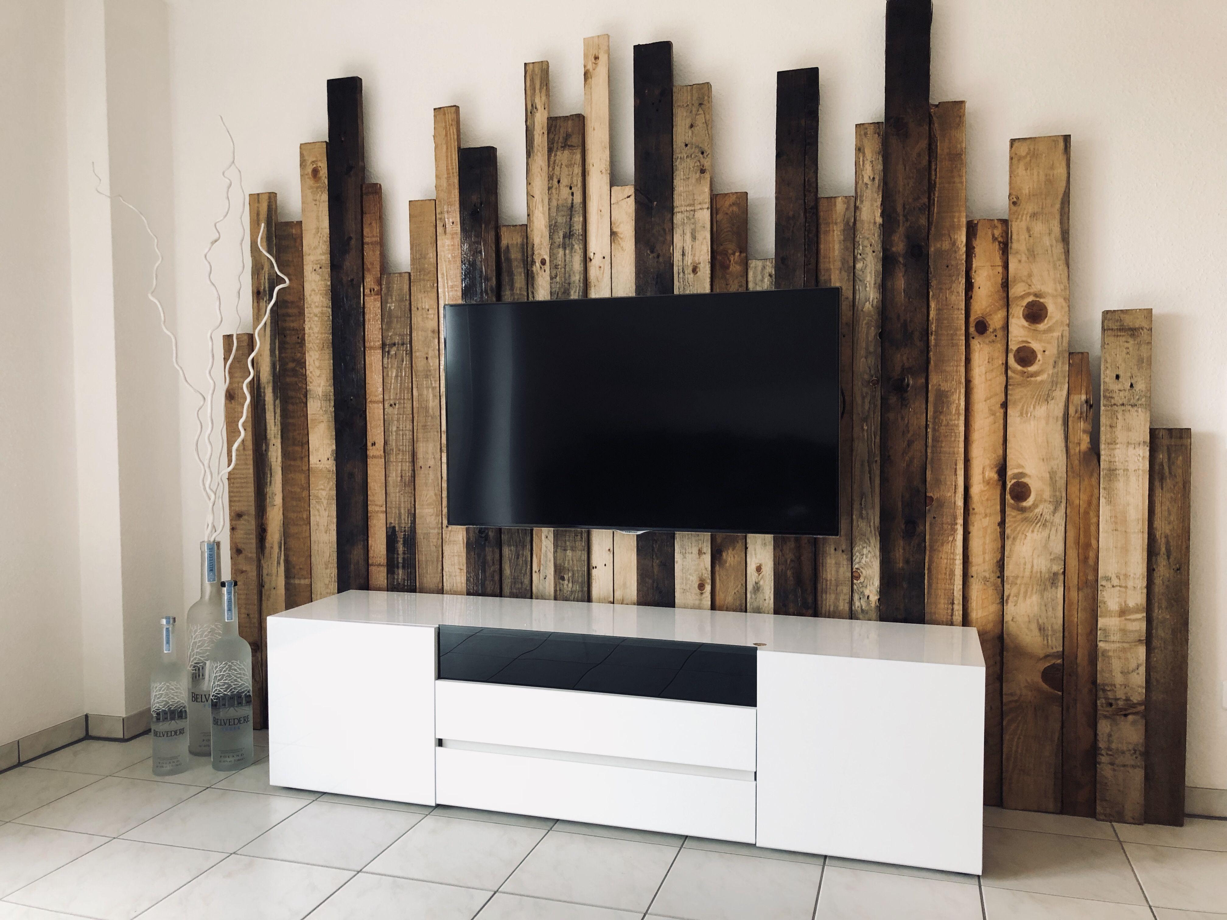 Wohnzimmer Holzwand Wohnzimmer Wohnung Dekoration Sideboard Selber Bauen
