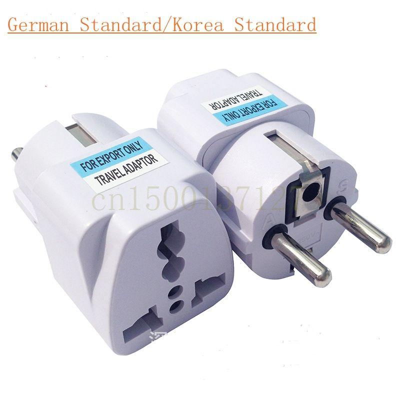 1Pcs Electrical plug socket adapter converter DIN UK AU US wholesale ...