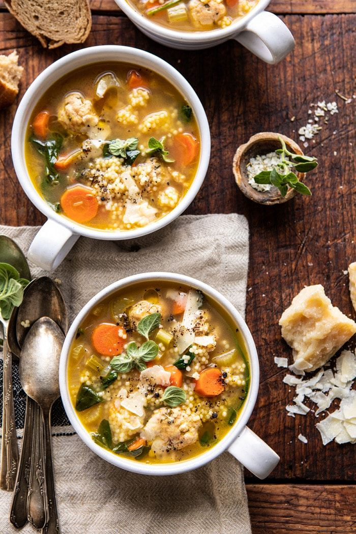 Healthier Italian Wedding Soup with Lemon and Garlic. - Half Baked Harvest