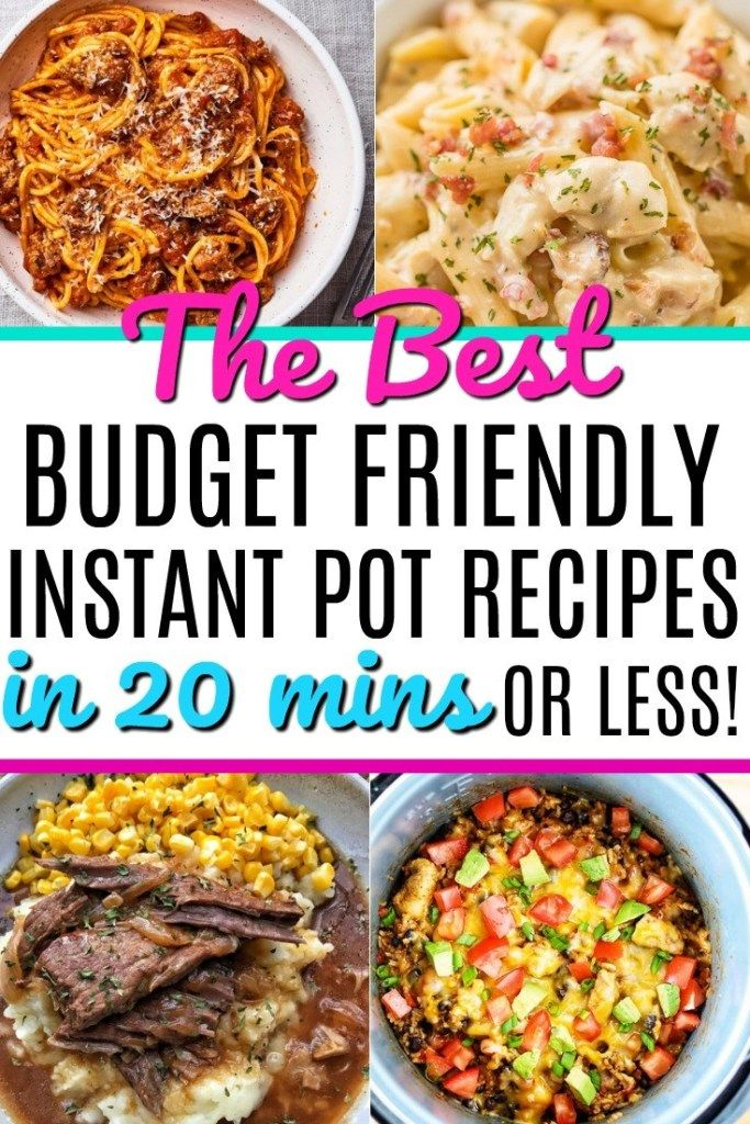 The Best Budget Friendly Instant Pot Recipes In 20 Minutes Or Less - Mommy Can't Afford That