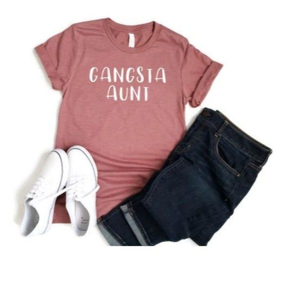 Gangsta Aunt Shirt, Aunt T-Shirt, Pregnancy Announcement, Unisex Women's Tee