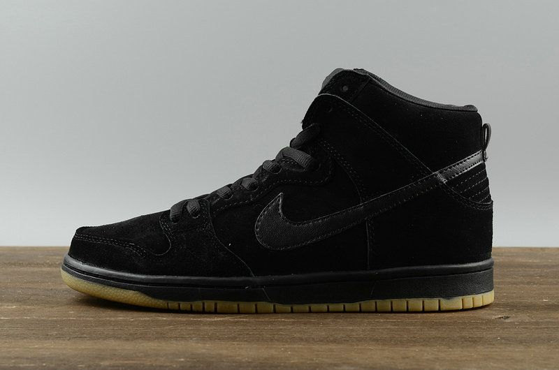 new concept 91e2f 9fd39 2018 Buy Nike SB Dunk High Pro Black Noir Gum Mens Skate Sneakers 305050  029 Youth Big Boys Shoes