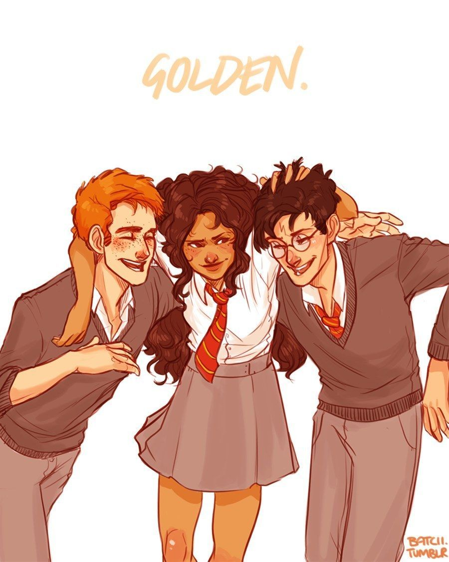 This Harry Potter Fan Art Might Change Your View Of The Characters Forever #fictionalcharacters Why do we always assume fictional characters are white? #fictionalcharacters
