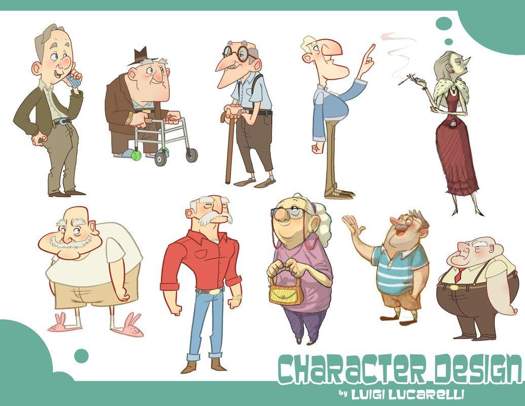 Character Design Genres : Art by luigi lucarelli website https