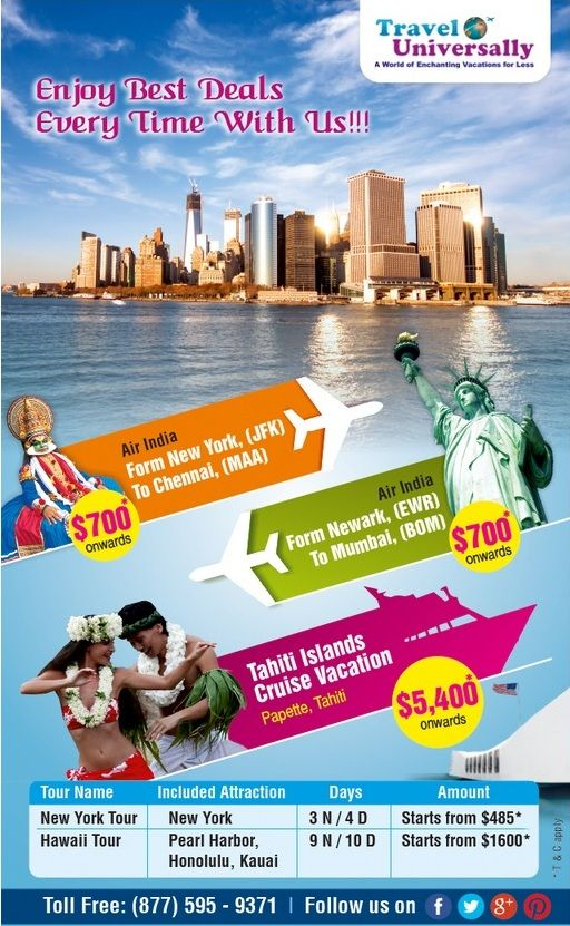 Travel Universally Offers Cheap Flight Tickets Tour Packages And - All inclusive cruises ny