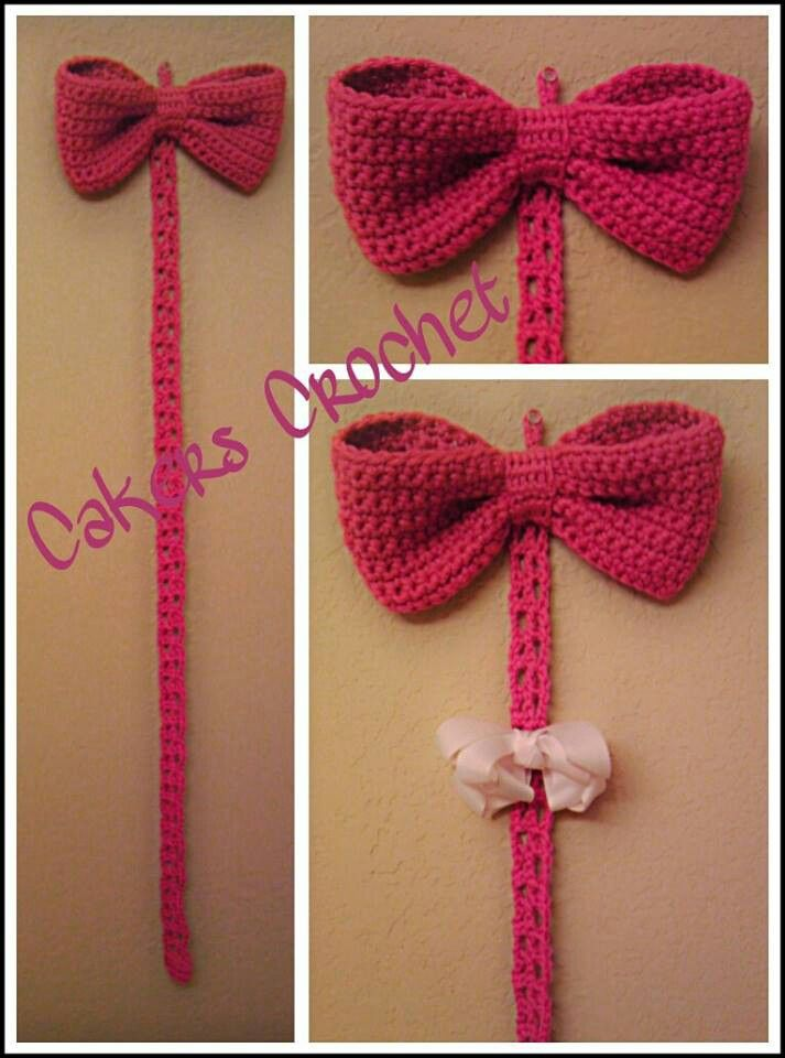 Oh so cute! Big bow bow holder by Cakers Crochet | Crochet Ideas ...