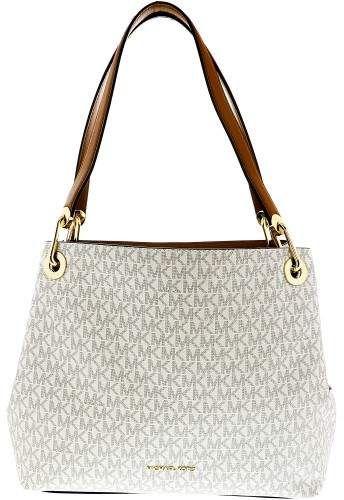 a7b80d46cd ~CLICK TO BUY~Michael Kors Women s Large Raven Tote Top-Handle Bag - Vanilla   purse  MK  fashion  handbag  buyable