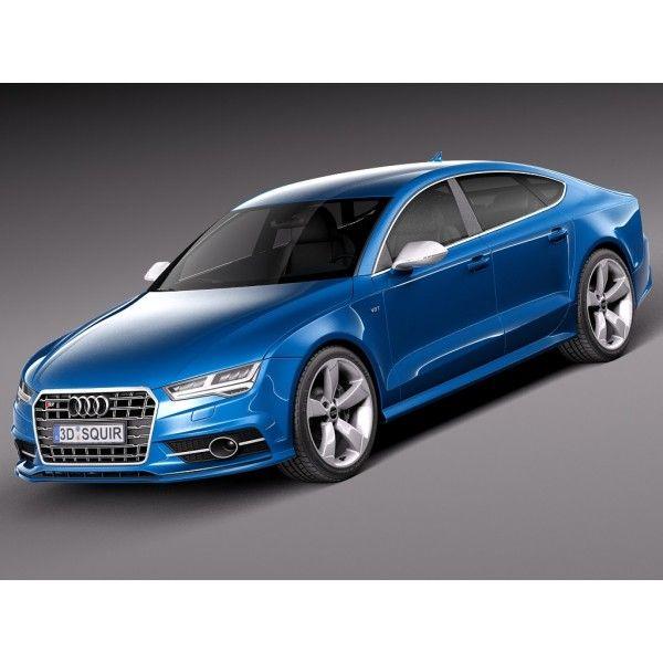 Tag For Audi A7 2018 2018 Audi A7 Exterior Sportback 3d: Audi S7 Sportback 2015 - 3D Model