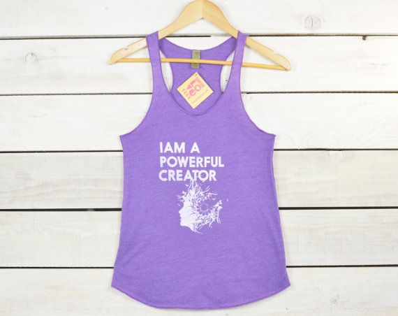 I Am A Powerful Creator    Purple Racer Back by SuperLoveTees, $30.00