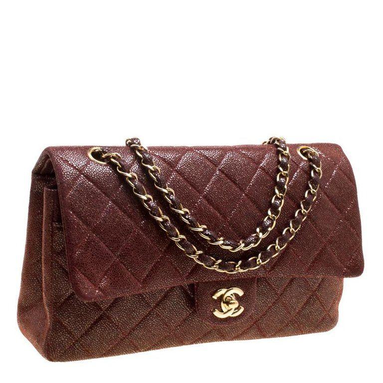 76281169e81f9e Chanel Bucket Bag / Drawstring Bag - Maroon Suede Vintage Double Flap Bag  Suede