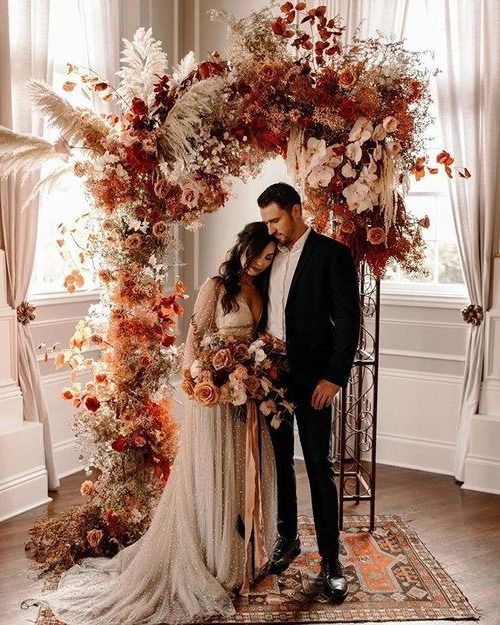 20 Rustic Bohemian Rust Wedding Color Ideas #weddingfall