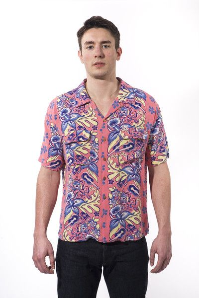 7a9f518f Levi's Vintage Clothing 1950's Hawaiian Shirt LEVI'S VINTAGE CLOTHING  $95.00 USD was $210.00 USD