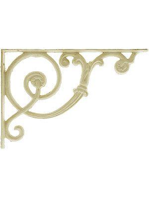 Antique White Scroll Shelf Bracket 8 1 8 X 12 Metal Shelf Brackets Decorative Metal Shelf Brackets Decorative Shelf Brackets