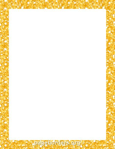 Printable gold glitter border Use the border in Microsoft Word or - downloadable page borders for microsoft word