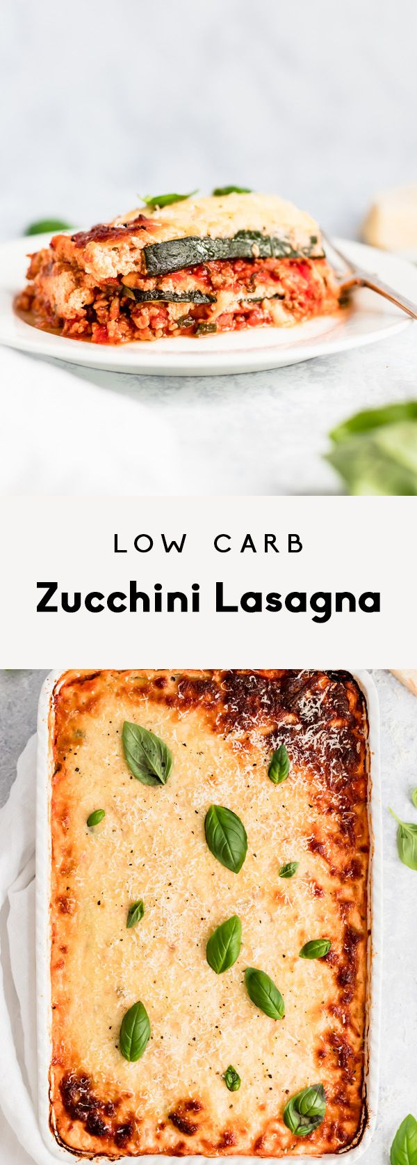 Low Carb Zucchini Lasagna with Spicy Turkey Meat Sauce A healthy, low carb zucchini lasagna with a flavorful turkey meat sauce. Packed with veggies, protein and delicious flavor. This will be your new favorite freezer-friendly meal!