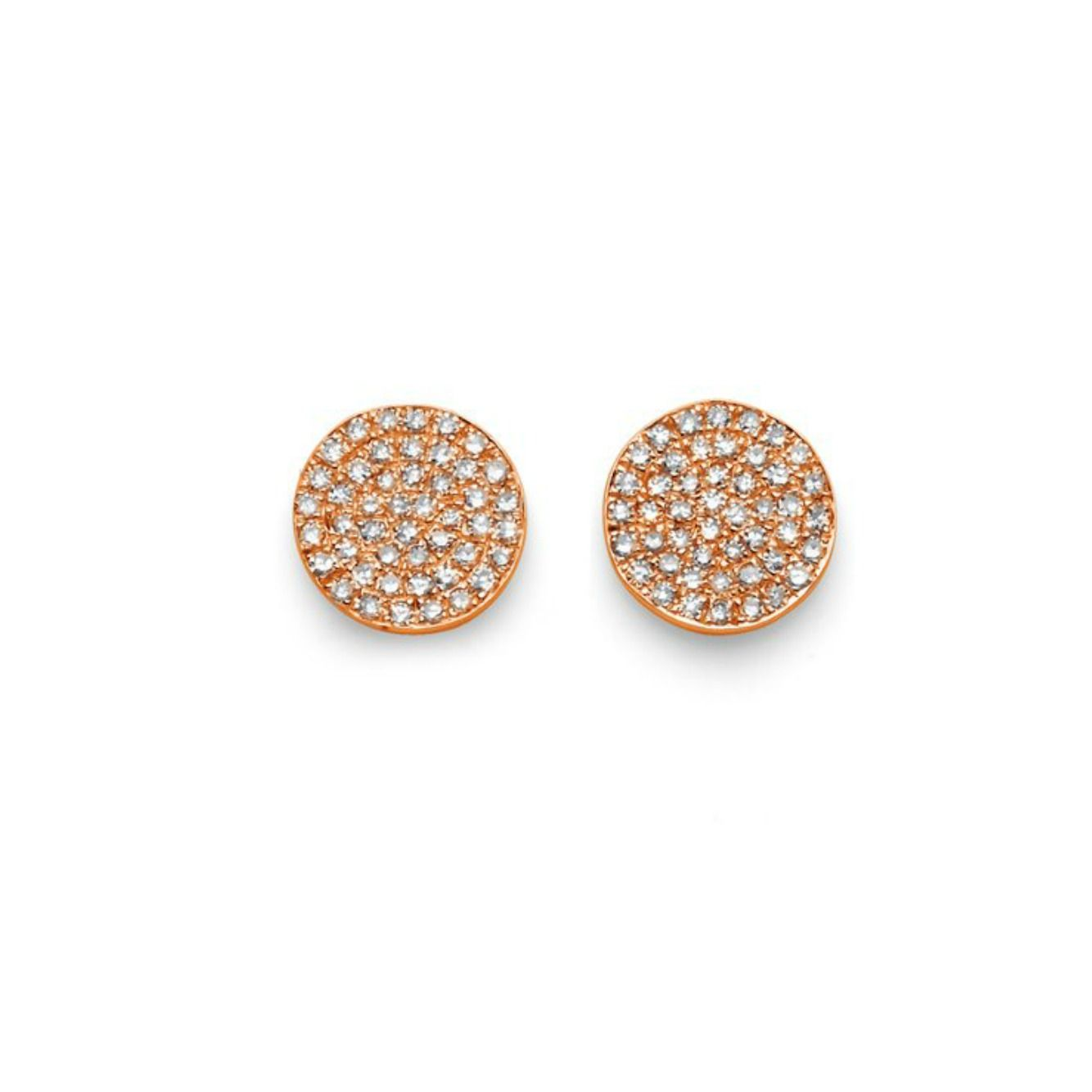These Pavé Disk Earrings Are Simply Beautiful Set In Four Karat Rose Gold The Carats Of Diamonds Make Another Must Have
