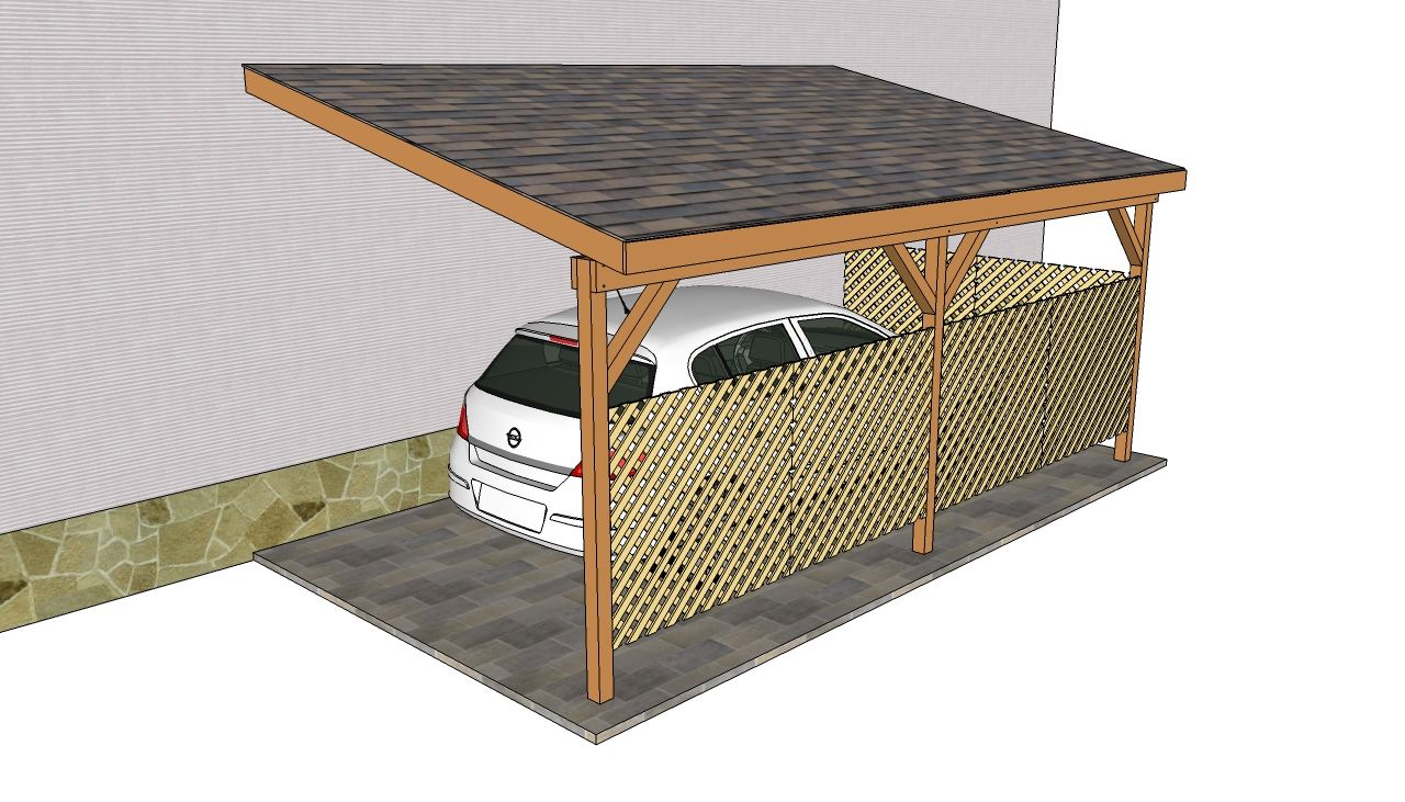 Attached carport plans free outdoor plans diy shed for Timber carport plans