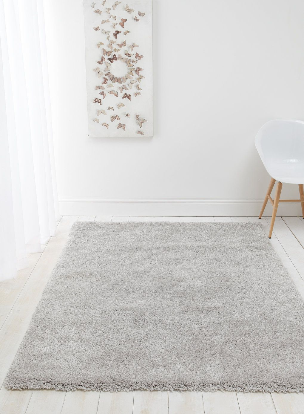 Light Grey Supersoft Shaggy Rug 140x200cm Rugs In Living Room Redecorate Bedroom Shaggy Rug